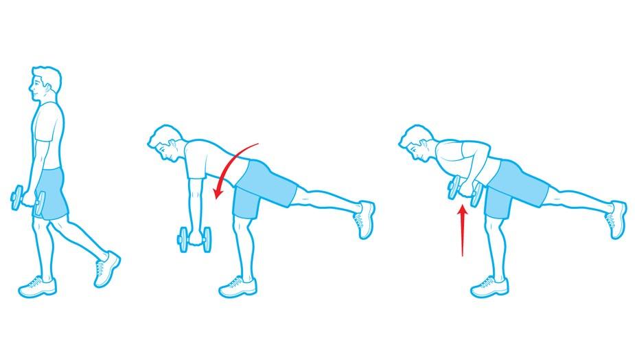 strength-exercises-one-legged-row