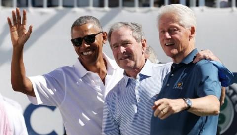 Presidents Cup 2017:  Ba cựu tổng thống góp mặt tại ngày khai mạc - Tuyển Mỹ dẫn tuyển Quốc tế với tỷ số 3,5/1,5