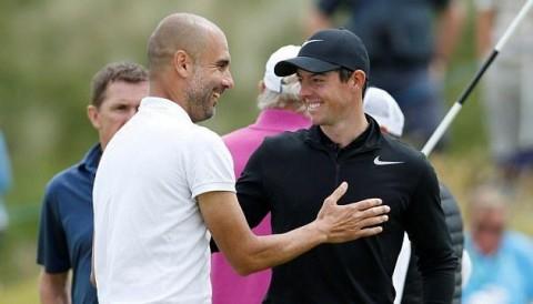 Rory McIlroy choáng trước kỹ năng chơi golf cực tốt của Pep Guardiola