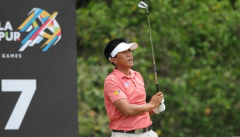 SEA Games 29: Golfer người Thái Kammalas Namuangruk dẫn đầu bảng Nam với điểm số -8
