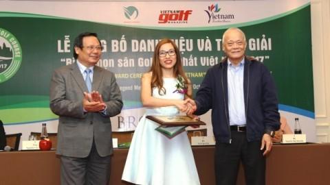 Kết quả 19 hạng mục giải thưởng tại Cuộc Bình chọn Sân golf Tốt nhất Việt Nam 2017