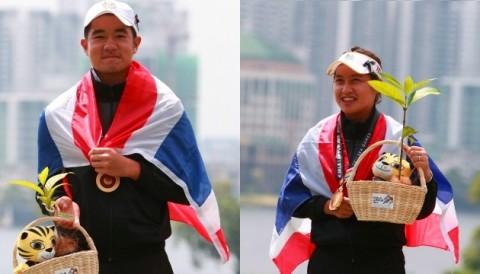 SEA Games 29: Kosuke Hamamoto, Atthaya Thitikul đem huy chương vàng golf cá nhân về cho Thái Lan