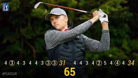 Jordan Spieth đánh 65 gậy trong ngày mở màn The Open