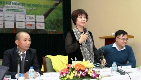Phó TTK VGA bà Nguyễn Thị Thu Hà: VĐQG 2017 sẽ là một cuộc chuyển giao thế hệ của golf nữ Việt