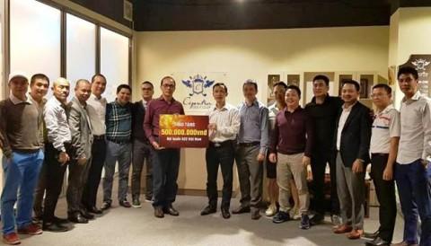 Ciputra Golf Club tặng 500 triệu đồng tiền mặt cho U23 Việt Nam