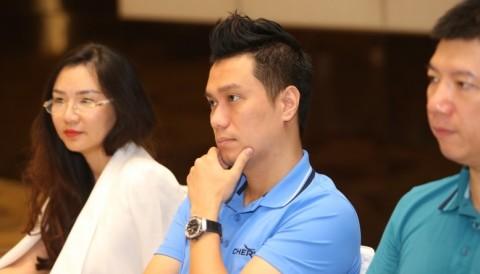 Diễn viên Việt Anh người phán xử góp mặt tại họp báo giải Chervo Vietnam Open Championship