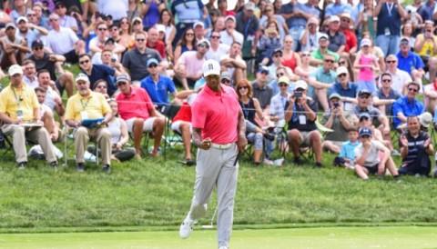 Tiger Woods xếp T7, Rory McIlroy leo 58 bậc sau vòng 3 the Memorial