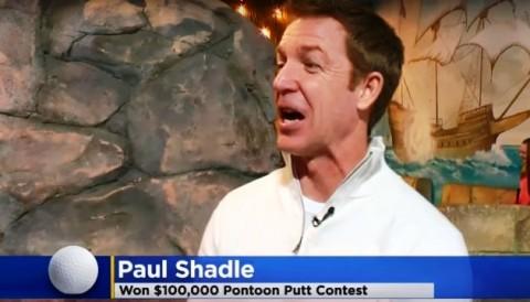 Cú gạt bóng nhận thưởng 100 ngàn đô la trong chương trình Golf Show