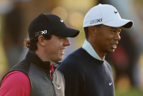 Rory Mcilroy xuất phát từ tee 1, Tiger Woods tee 10