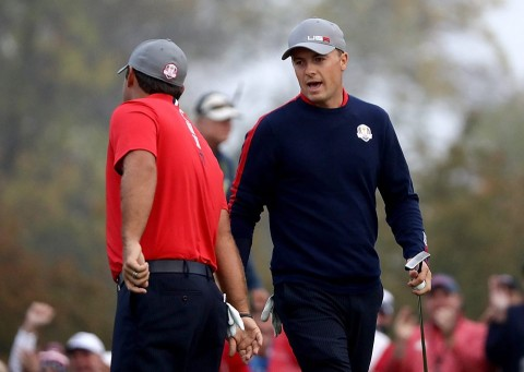 [Luật Golf 18-2] Jordan Spieth và lỗi bẫy nước ở Ryder Cup 2016